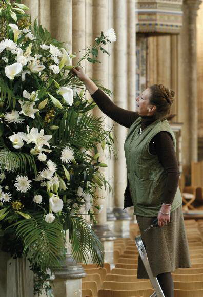 Flower Arranging Flourishes At The Cathedral Canterbury
