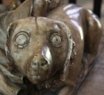 G: A figure of dog on the foot of the tomb of Archbishop William Courtenay. South aisle of the Trinity Chapel.