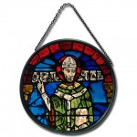 Hand painted stained-glass replica of the famous depiction of Thomas Becket