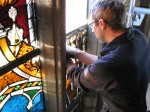 Senior Glass Painter David Griffiths at Uppsala Cathedral
