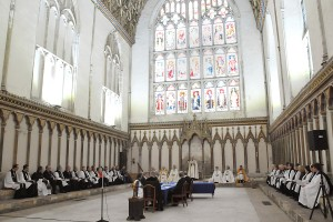 The College of Canons meeting by Sovereign demand to seal the election of the 105th Archbishop of Canterbury