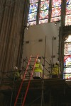 Installation of protective shutters on the Great South Window