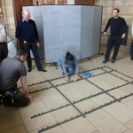 Grace and the team at the Met begin installation