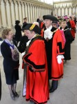 Civic Dignitaries prepared to parade in the Chapter House