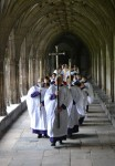 Parading through the Cloisters