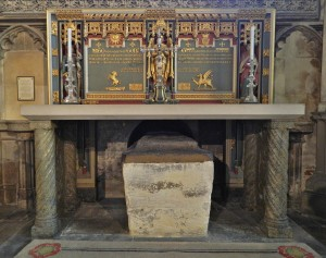 Tomb of Archbishop Langton below the Chapel Altar