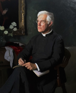 Jamie's portrait of The Dean of Canterbury, The Very Reverend Dr Robert Willis