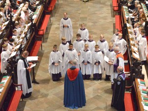 Senior choristers being admitted
