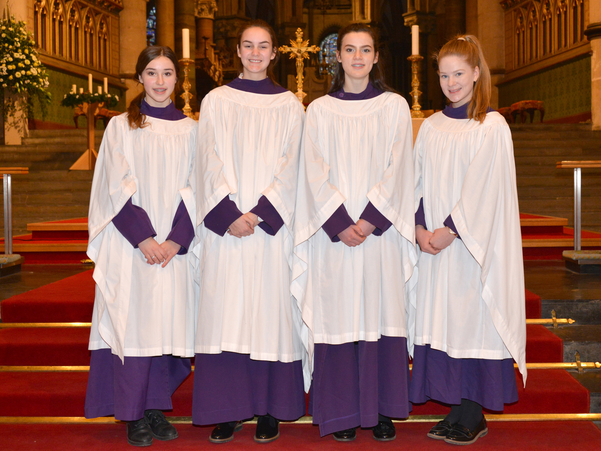 Girls join the Cathedral Foundation