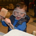 This young gentlemen clearly had a real flair for stonemasonry.
