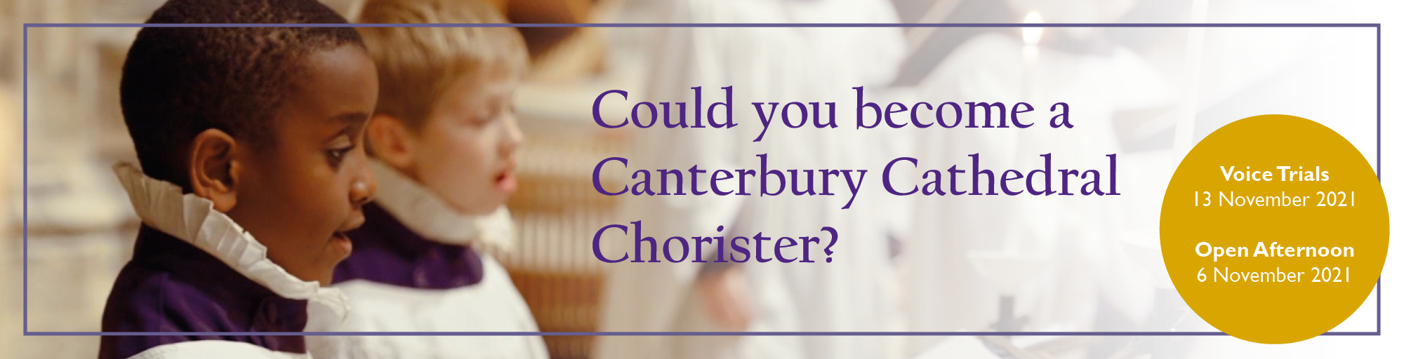 Could you be a Canterbury Cathedral Chorister?