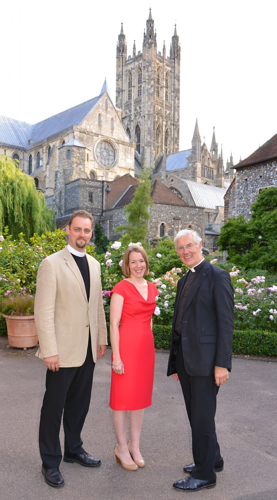 The Revd Matthew Rushton, Elizabeth Rushton and The Dean of Canterbury, the Very Revd Dr Robert Willis