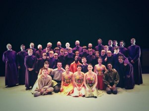 Choir and the Richard Alston Dance Company - backstage at the Marlowe