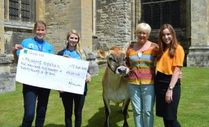 Pilgrims Hospice fundraising team Deborah Kellond and Rosie Bell with Geralindine and Cathedral events team Jocelyn Prebble and Victoria Adley
