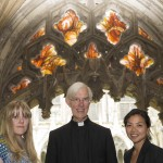 CLOISTER037  |  Emma Lindsay,The Very Revd Dr Robert Willis, Dean of Canterbury and Grace Ayson  ©Jason Dodd