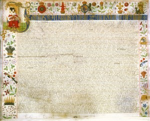 Illuminating nature: Canterbury's James I charter