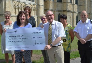 Cathedral staff raise over 1,500 for children's charity