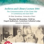 The Annual Cathedral Archives and Library lecture