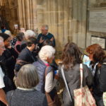People gather to learn more about bell ringing at the Cathedral.